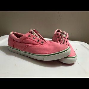 Pink Sperrys Size 9